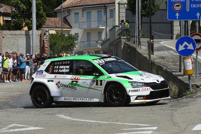 Chentre e Florean su Skoda vincono il Rally vigneti monferrini di Canelli 1
