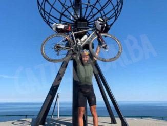 Roberto Menicucci è arrivato in bicicletta a Capo Nord
