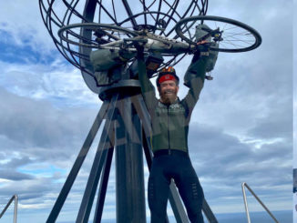 Anche Vincenzo La Montagna ha concluso il suo viaggio verso Capo Nord in bicicletta