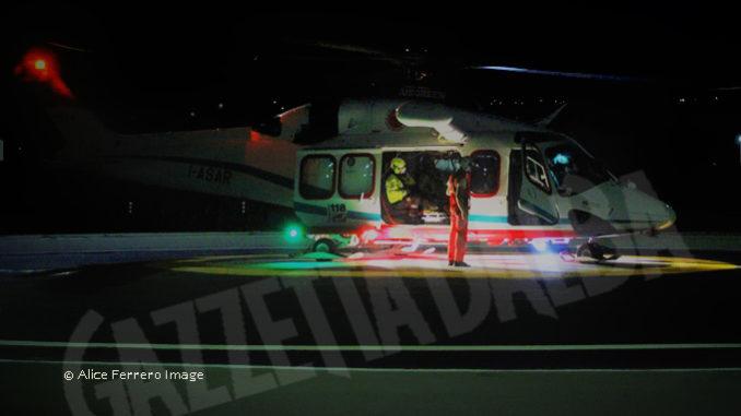 Validazione della piazzola per atterraggio notturno dell'elisoccorso al rifugio Quintino Sella sul Monviso