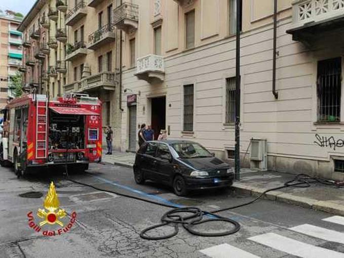 incendio appartamento via Caboto, Torino