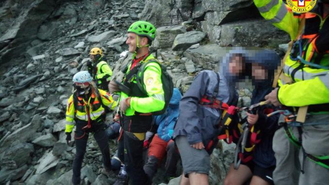 Operazioni di recupero congiunte per 12 scout dispersi sul Monte Granero nel comune di Bobbio Pellice 2