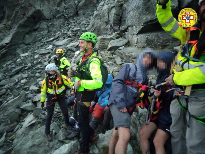 recupero 12 scout dispersi sul Monte Granero