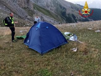Soccorsi in alta Valle Stura, presso il lago Oserot, quattro escursionisti sorpresi da maltempo nella notte