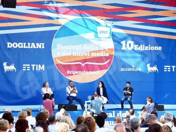 Antonio Campo Dall'Orto, Carlo De Benedetti, Alessandra Ravetta e Stefano Feltri