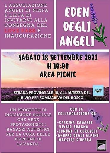 Associazione Angeli di Ninfa – progetto L'EDEN DEGLI ANGELI
