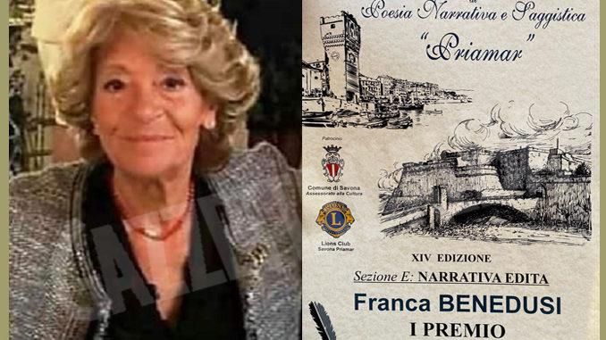 """""""La guerra di Egle"""" dell'autrice Franca Benedusi conquista il """"Priamar"""""""