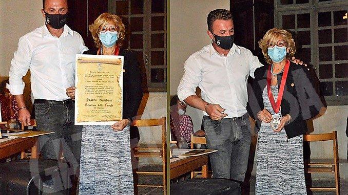 "Franca Benedusi riceve a Diano d'Alba l'onoreficenza di ""Cavaliera delle Langhe Ad Honorem"""