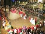 La cena medievale in piazza Duomo per gli Igers