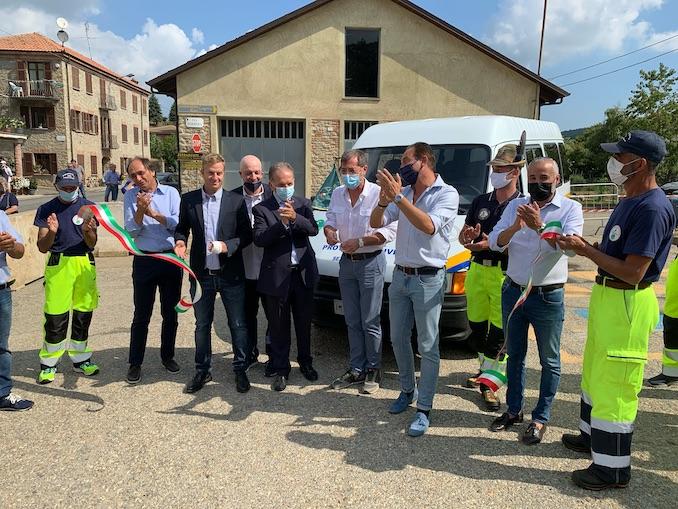 Inaugurato il pulmino della Protezione civile di Niella Belbo, Feisoglio e Cravanzana 1