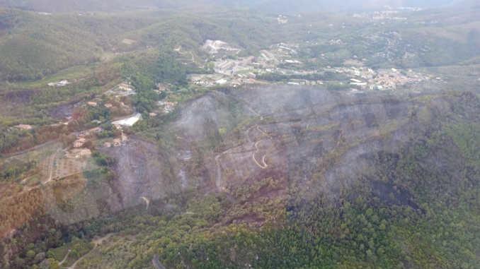 Il vasto incendio che ha colpito il Ponente ligure è ora sotto controllo. In fumo cinquanta ettari di bosco