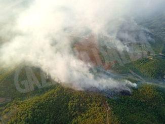 Le fiamme bruciano il Ponente ligure. Sul luogo tre Canadair e tre elicotteri