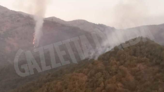 Ancora incendi nei boschi della Liguria