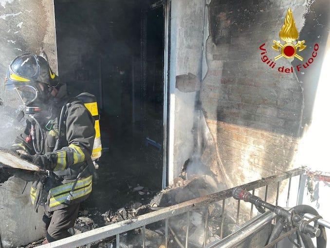 Incendio a Nizza Monferrato