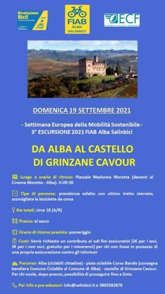 """Alba: cerimonia di consegna della bandiera """"Comune Ciclabile"""" ed escursione in bici da Alba al castello di Grinzane per la Settimana Europea della Mobilità Sostenibile 1"""