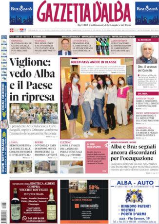 La copertina di Gazzetta d'Alba in edicola martedì 7 settembre