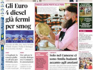 La copertina di Gazzetta d'Alba in edicola martedì 21 settembre