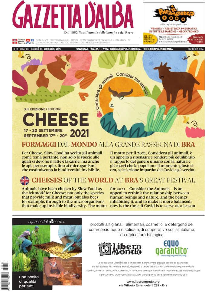 Cheese 2021 si avvicina. Martedì 14 in edicola lo speciale di Gazzetta d'Alba