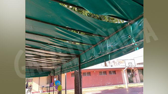 Vandalizzata copertura del centro incontro e sportivo di via Fratelli Rosselli a Bra