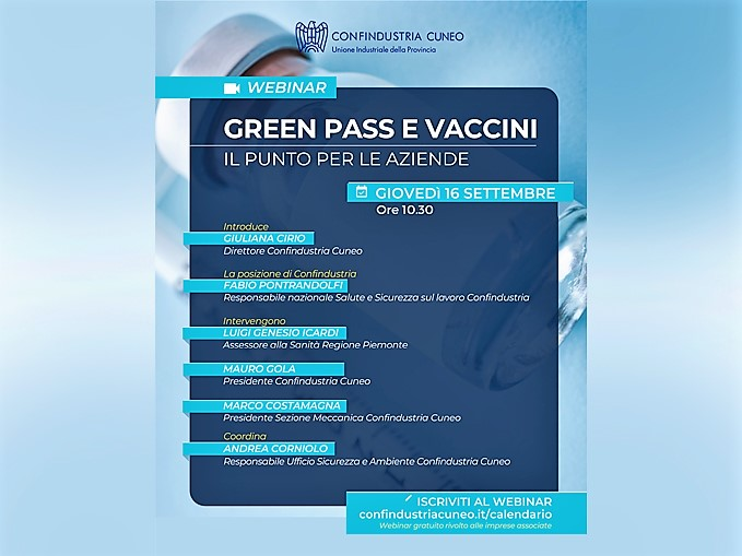 Webinar green pass e vaccini