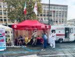 Le unità mobili per il vaccino presenti alla Douja d'or ad Asti e Tennis & friends a Torino