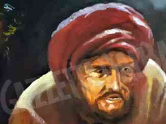 Il quadro di Franco Blandino in esposizione a Fossano