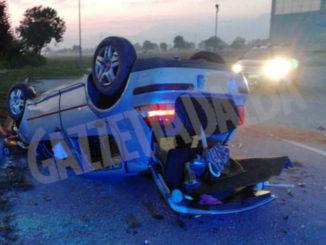 Vigili del Fuoco di Cuneo intervengono per recuperare veicolo ribaltato a Beinette
