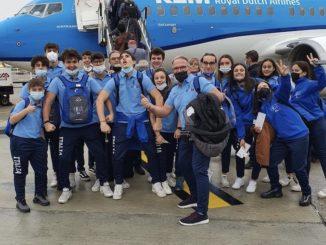 La Nazionale azzurra di pallapugno in partenza per l'Olanda 1