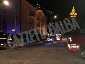 A fuoco una palazzina nel centro di Savigliano