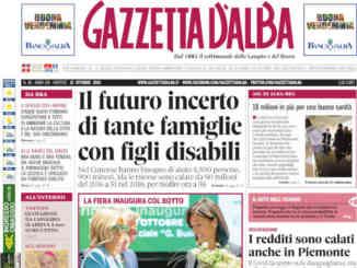 La copertina di Gazzetta d'Alba in edicola martedì 12 ottobre