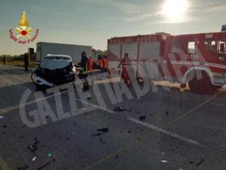 Viabilità modificata dopo scontro tra due veicoli a Marene