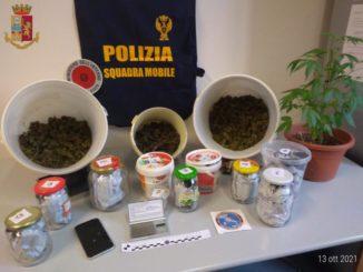 Un chilo e mezzo di marijauana in cucina: arrestato un operaio a Fossano