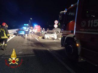 Incidente sulla tangenziale di Asti: coinvolta anche un'autoambulanza