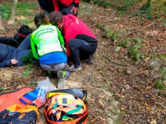 Signora79enne soccorsa nei boschi tra Avigliana e Giaveno in seguito ad una brutta caduta 1